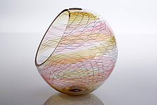 Bohemian Basket by Benjamin Silver (Art Glass Vessel)
