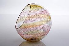 Bohemian Basket by Benjamin Silver (Art Glass Vessel)