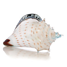 Atlantis Sea Shell by Benjamin Silver (Art Glass Sculpture)