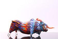 Ox by Benjamin Silver (Art Glass Sculpture)