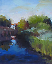 Hidden Canal by Leslie Dyas (Oil Painting)