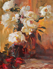 Rose Gold by Leslie Dyas (Oil Painting)