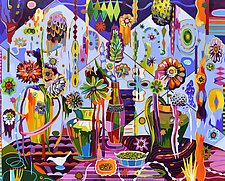 Galactic Garden by Teresa Cox (Acrylic Painting)