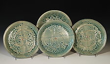 Water Spirit Plates by Leslie Green (Ceramic Plate)