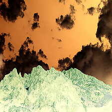 Mountains Meet the Sky by Marcie Jan Bronstein (Hand-Colored Photograph)