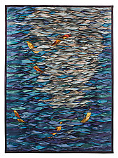Shining Sea Koi by Tim Harding (Fiber Wall Hanging)
