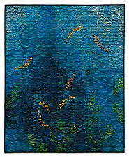 Koi Shimmer # 6 by Tim Harding (Fiber Wall Hanging)