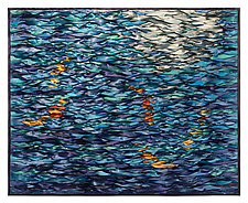 Blue Water Koi by Tim Harding (Fiber Wall Hanging)