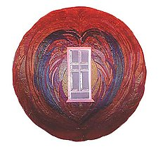 Window Heart by Kathleen Ash (Art Glass Bowl)