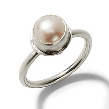 Simple Pearl Ring by Randi Chervitz (Silver & Stone Rings)