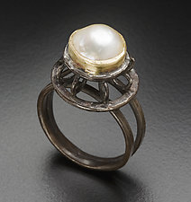 Clerestory Pearl Ring by Randi Chervitz (Silver & Stone Ring)