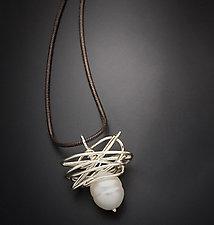 Pearl in a Nest Pendant by Randi Chervitz (Silver & Pearl Necklace)