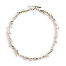 Ariadne Pearl Necklace by Randi Chervitz (Silver & Stone Necklace)
