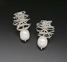 Zephyr Earrings by Randi Chervitz (Silver & Pearl Earrings)