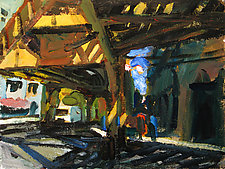 Shadows Beneath the Chicago L by Jeff Darrow (Acrylic Painting)