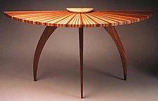 Sunburst Table by Seth Rolland (Wood Hall Table)