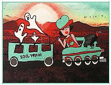 Soul Train by Kim H. Ritter (Fiber Wall Hanging)