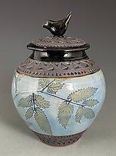 Little Bird Jar in Cornflower Blue by Suzanne Crane (Ceramic Jar)