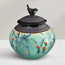 Little Bird Jar by Suzanne Crane (Ceramic Vessel)