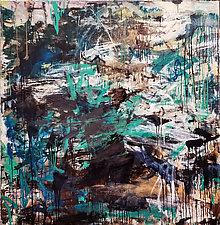 Green Brown Marsh by Robin Feld (Oil Painting)
