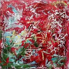 Flower Scribble 4 by Robin Feld (Oil Painting)