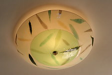 Bamboo: Ceiling by Joan Bazaz (Art Glass Ceiling Light)