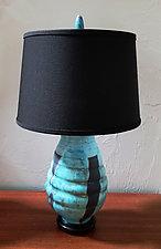 Lamp 22 Raku 191 by Ron Mello (Ceramic Table Lamp)