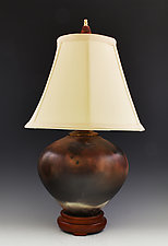 Table Lamp 18 Sagger B102 by Ron Mello (Ceramic Table Lamp)
