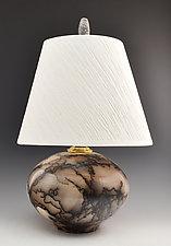 Lamp 30 - Horse Hair 349 by Ron Mello (Ceramic Table Lamp)