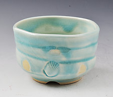 Handmade Wheel Thrown and Altered Porcelain Cup by Ron Mello (Ceramic Drinkware)