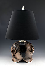 Lamp 31 Horse Hair Fired by Ron Mello (Ceramic Table Lamp)