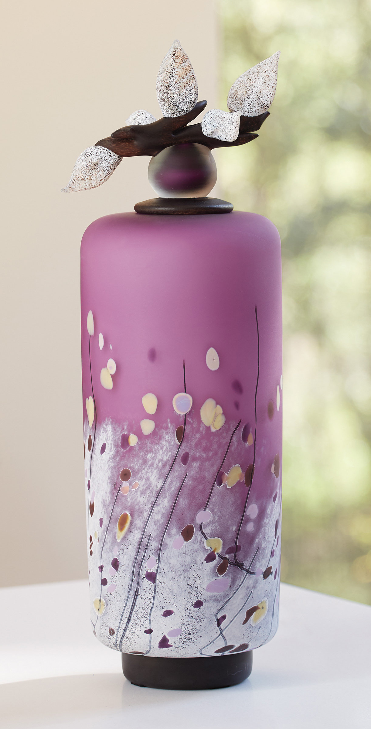 Winter Wildflowers Tall Cylinder in Violet