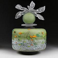 Novi Zivot Luksuz (New Life Deluxe) Fern Cylinder by Eric Bladholm (Art Glass Vessel)