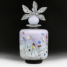 Novi Zivot Luksuz (New Life Deluxe) Orchid Cylinder by Eric Bladholm (Art Glass Vessel)
