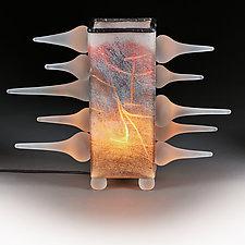 Spontaneous Synergy Sunrise (Novi Svet Series) Illuminated by Eric Bladholm (Art Glass Table Lamp)