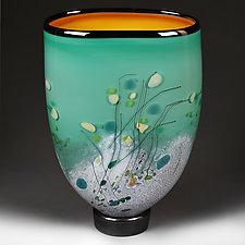 Mint Meadow by Eric Bladholm (Art Glass Vessel)