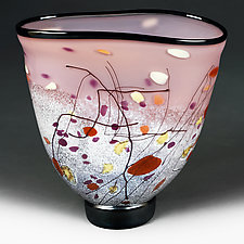 Peach Paradise Studio Sample by Eric Bladholm (Art Glass Vessel)
