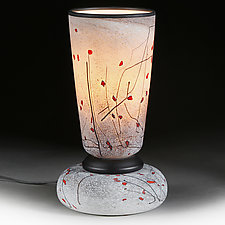 Zimska Jabuka (Winter Apples) Studio Sample Lamp by Eric Bladholm (Art Glass Table Lamp)