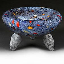 Interstellar Indigo Studio Prototype by Eric Bladholm (Art Glass Bowl)