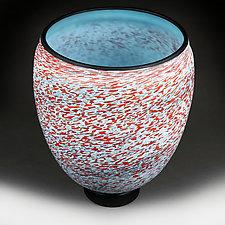 Apple Abstract Large Vase Studio Sample by Eric Bladholm (Art Glass Vase)