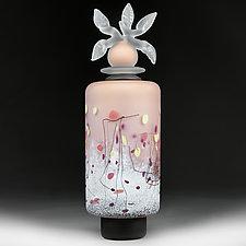 Novi Zivot Luksuz (New Life Deluxe) Apricot Cylinder by Eric Bladholm (Art Glass Vessel)