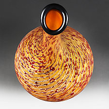 Litnya Vyshnya (Summer Cherries) Tall Vase Studio Sample by Eric Bladholm (Art Glass Vessel)