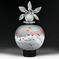 Zimska Jabuka Luksuz (Winter Apple Deluxe) Sphere by Eric Bladholm (Art Glass Vessel)
