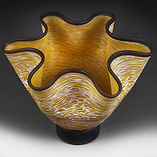 Honey Haze by Eric Bladholm (Art Glass Vessel)
