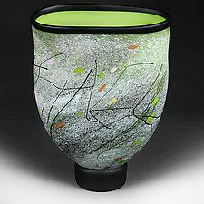 Wildflower Wind Vase by Eric Bladholm (Art Glass Vase)