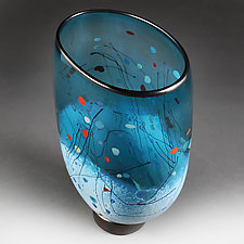 Sapphire Silhouette Studio Sample by Eric Bladholm (Art Glass Vase)