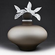 Sklenene Sny (Glass Dreams) Bronze Botanical by Eric Bladholm (Art Glass Vessel)