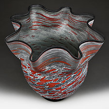Summer Storm Studio Sample by Eric Bladholm (Art Glass Bowl)