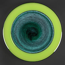 Emerald Eclipse Studio Sample by Eric Bladholm (Art Glass Platter)