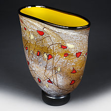 Golden Glimmer by Eric Bladholm (Art Glass Vessel)